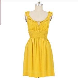 Anthropologie Floreat mustard yellow dress Size M